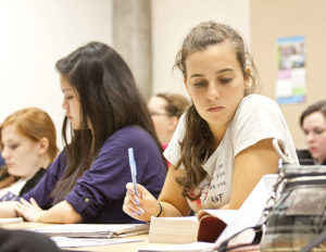 """photo credit: Newman University <a href=""""http://www.flickr.com/photos/38115978@N04/7038952701"""">Student Contemplating Notes in Theology Class</a> via <a href=""""http://photopin.com"""">photopin</a> <a href=""""https://creativecommons.org/licenses/by-nc-nd/2.0/"""">(license)</a>"""